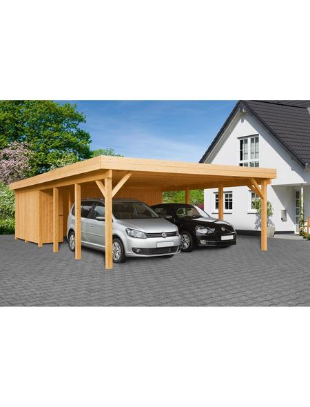 MR. GARDENER Carport »Heidelberg XL«, BxHxT: 600 x 230 x 900 cm, braun