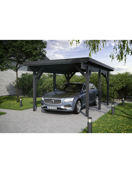 KIEHN-HOLZ Carport »KH 301«, Außenmaß BxT: 344 x 504 cm, anthrazit