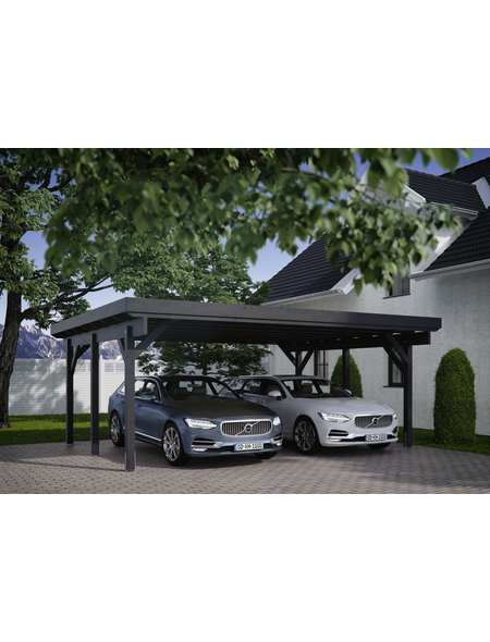 KIEHN-HOLZ Carport »KH 310«, Außenmaß BxT: 340 x 504 cm, weiß
