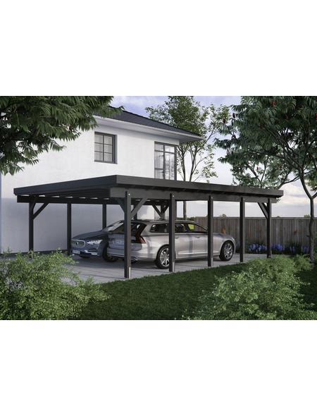 KIEHN-HOLZ Carport »KH 330«, Außenmaß BxT: 634 x 754 cm, weiß
