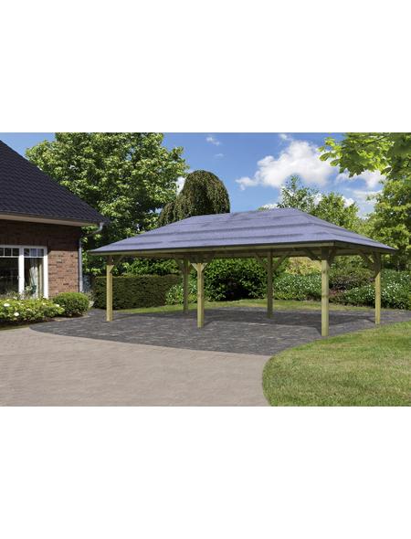 KARIBU Carport »Pavillon Carport«, Außenmaß BxT: 517,5 x 264,5 cm