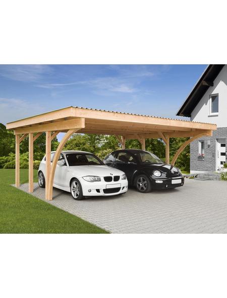 MR. GARDENER Carport »Stuttgart 1«, Außenmaß BxT: 604 x 510 cm, braun