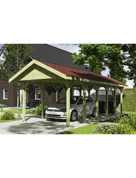 SKANHOLZ Carport »Wallgau«, Außenmaß BxT: 380 x 900 cm, grün