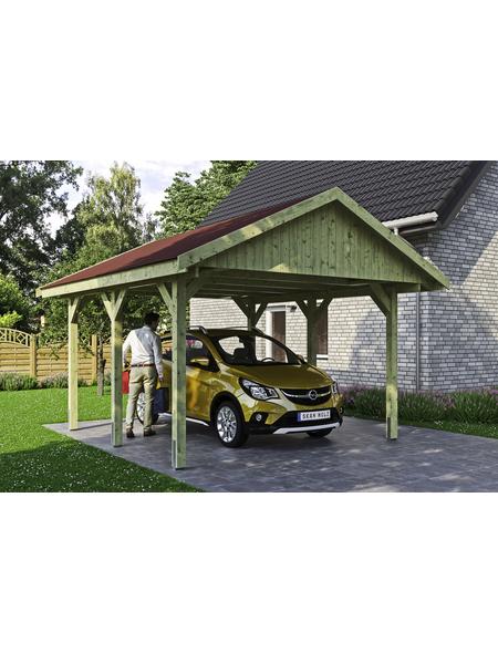 SKANHOLZ Carport »Wallgau«, Außenmaß BxT: 430 x 500 cm, grün