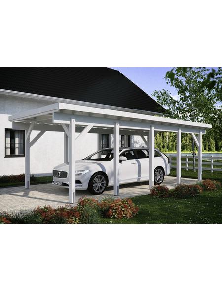 Kiehn-Holz Carport, weiss