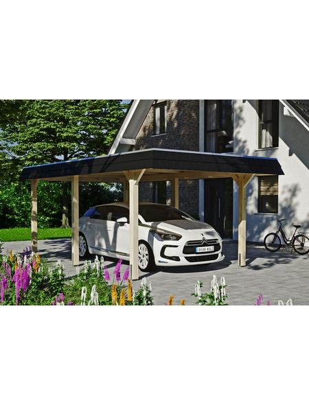 SKANHOLZ Carport »Wendland«, Außenmaß BxT: 315 x 496 cm, natur