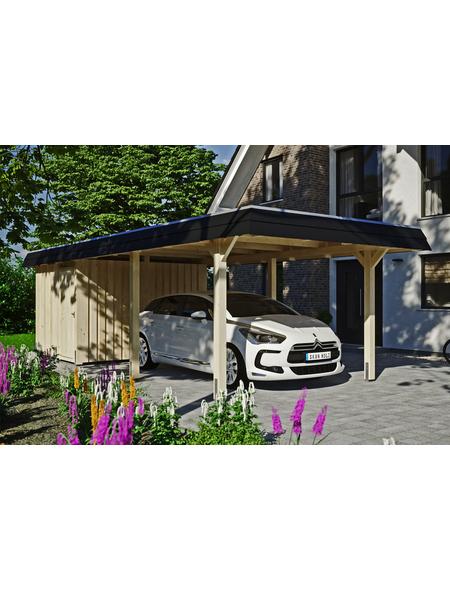 SKANHOLZ Carport »Wendland«, Außenmaß BxT: 315 x 738 cm, natur