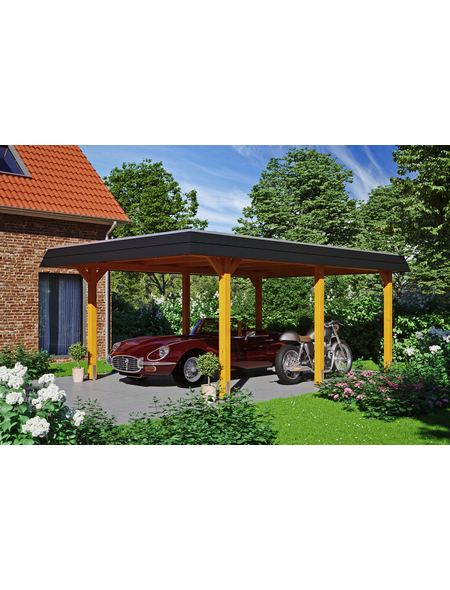SKANHOLZ Carport »Wendland«, Außenmaß BxT: 365 x 496 cm