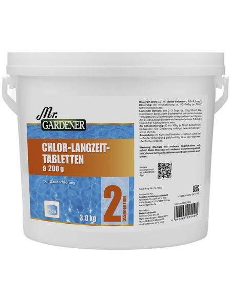 MR. GARDENER Chlortablette 3 kg