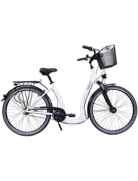 CHALLENGE Citybike Tiefeinsteiger, 28 Zoll, 7-Gang, Unisex