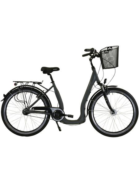 HAWK Citybike Tiefeinsteiger »Comfort Deluxe Plus«, 26 Zoll, 7-Gang, Unisex