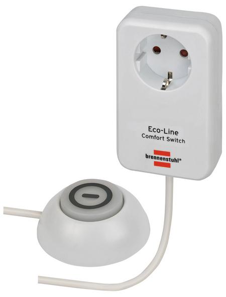 Brennenstuhl® Comfort Switch Adapter Eco-Line weiß
