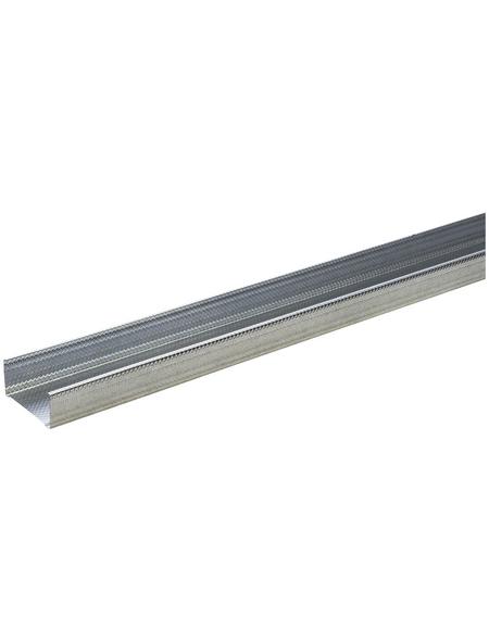 KNAUF CW-DB Ständerprofil, 10 x 5 x 260 cm, Stahl verzinkt, silber