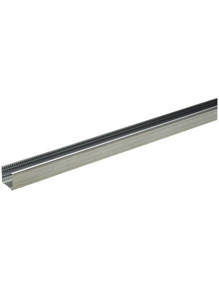 KNAUF CW-DB Ständerprofil, 5 x 5 x 260 cm, Stahl verzinkt, silber