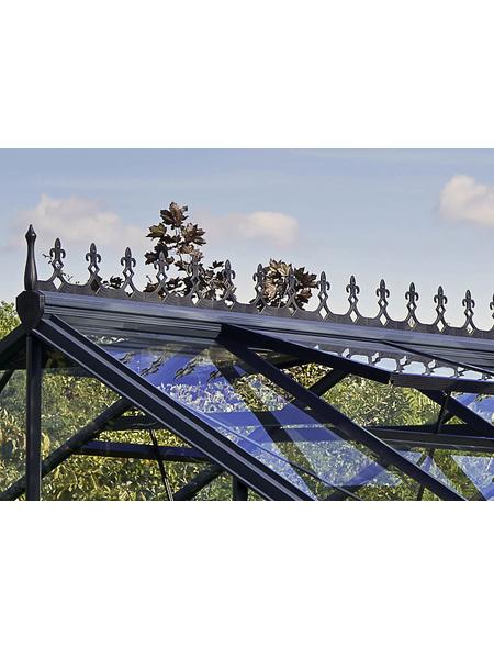JULIANA Dachfirstverzierung für Gewächshäuser, BxHxt: 23 x 21 x 43 cm, Kunststoff