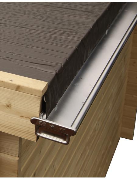 WOLFF Dachkastenrinne für Finnhaus Wolff-Produkte, BxT: 7 x 900 cm, Aluminium