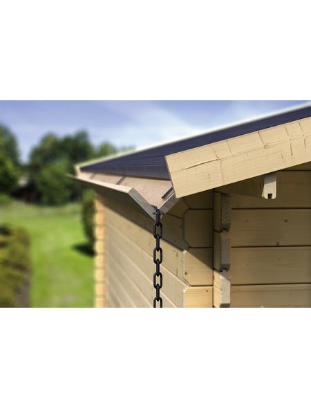KARIBU Dachrinne für Gartenhäuser, Holz