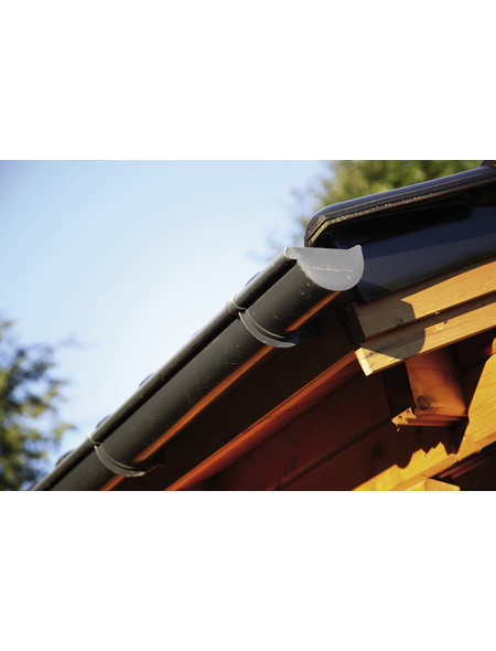 WOLFF Dachrinne für Gartenhäuser, Kunststoff