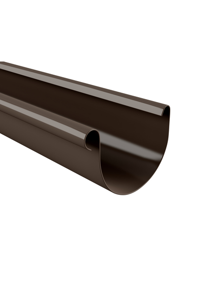 Dachrinne, Nennweite: 100 mm, Länge: 2000 mm, Hart-PVC (PVC-U)