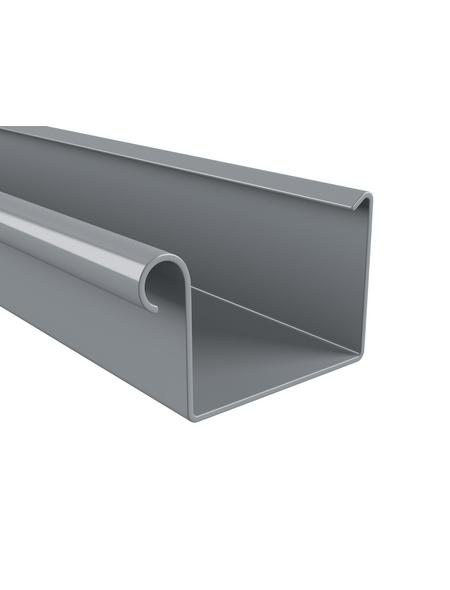 Dachrinne, Nennweite: 70 mm, Länge: 2000 mm, Hart-PVC (PVC-U)