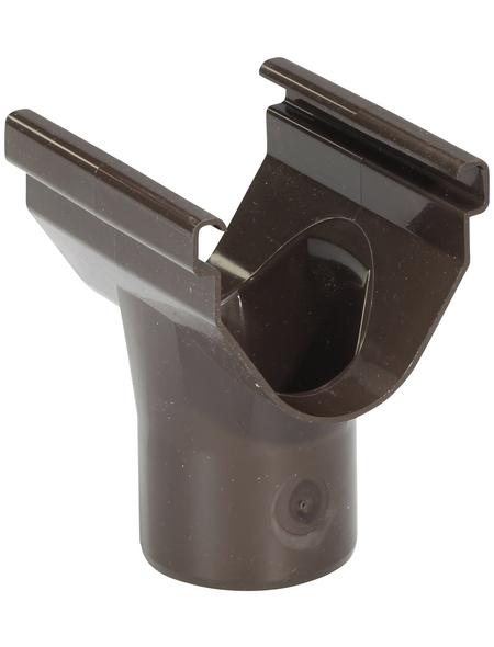 Dachrinnenhalter, Nennweite: 70 mm, halboval, Hart-PVC (PVC-U)