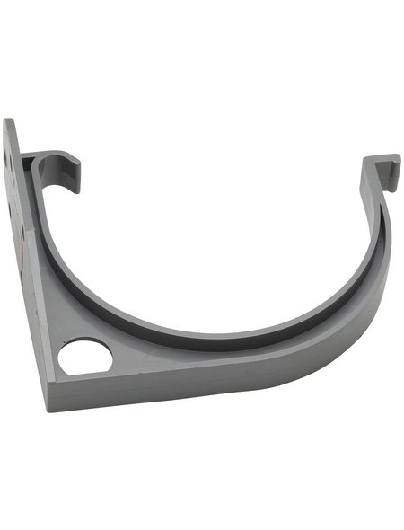 Dachrinnenhalter, Nennweite: 75 mm, halbrund, Hart-PVC (PVC-U)