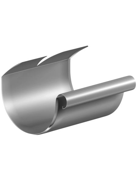 SAREI Dachrinnenverbinder, halbrund, Nennweite: 125 mm, Aluminium