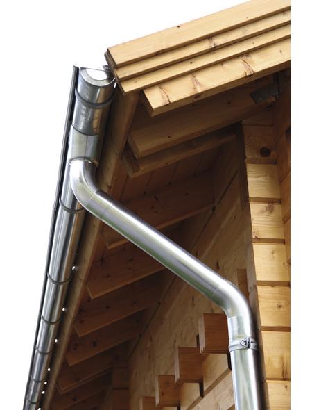 WOLFF Dachrundrinne für Finnhaus Wolff-Produkte, BxT: 8 x 400 cm, Aluminium
