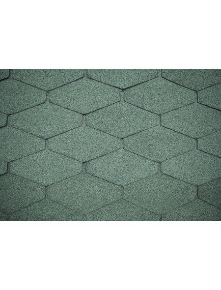 Dachschindel Bitumen grün 2m²
