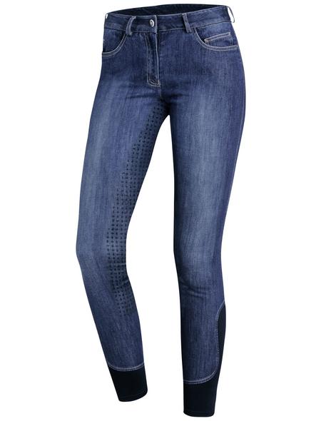 Schockenmöhle Sports Damenreithose Delphi Jeans FS, Größe: 40, jeans blue