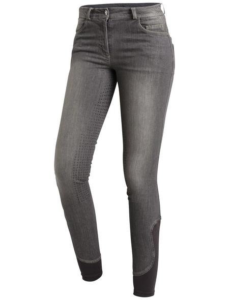 Schockenmöhle Sports Damenreithose Delphi Jeans FS, Größe: 42, graphit