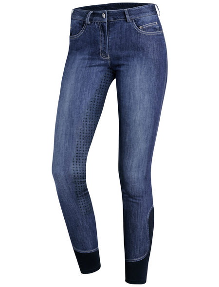 Schockenmöhle Sports Damenreithose Delphi Jeans FS, Größe: 42, jeans blue