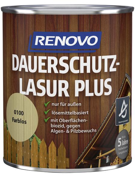RENOVO Dauerschutzlasur, für außen, 0,75 l, farblos, seidenglänzend