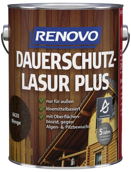 RENOVO Dauerschutzlasur, für außen, 2,5 l, braun, seidenglänzend
