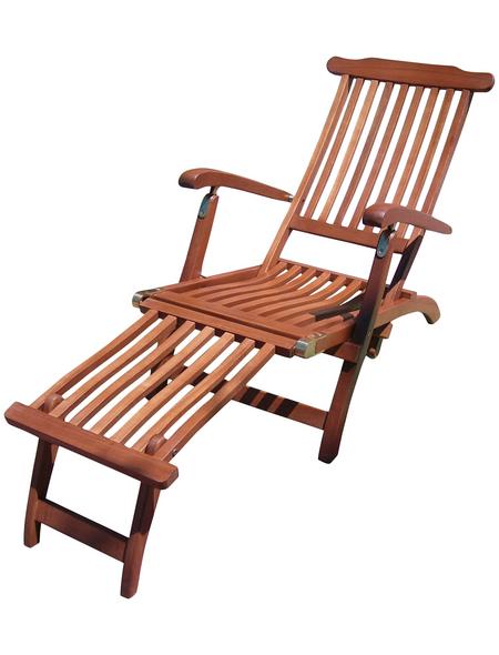 GARDEN PLEASURE Deckchair »Phoenix«, Gestell: Eukalyptusholz