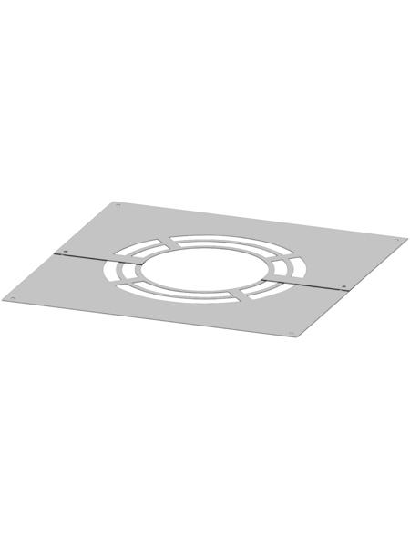 ZICKWOLFF Deckenblende, ØxL: 15 x 50 cm, Stärke: 2 mm, Edelstahl