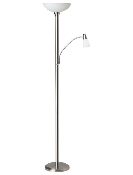 BRILLIANT Deckenfluter eisen mit 5,5 W, 2-flammig, H: 180 cm, e14/e27 inkl. Leuchtmittel in Warmweiß