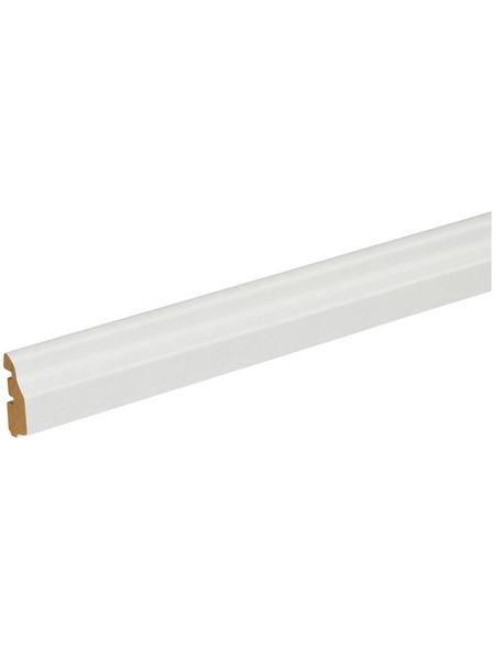 FN NEUHOFER HOLZ Deckenleiste, Holzoptik weiß, MDF, LxHxT: 240 x 1,4 x 3,6 cm