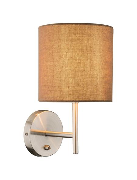 Deckenleuchte »BETTY« nickelfarben 40 W, 1-flammig, E14, inkl. Leuchtmittel