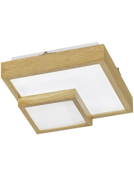 wofi® Deckenleuchte braun 24 W, 1-flammig, inkl. Leuchtmittel in warmweiß