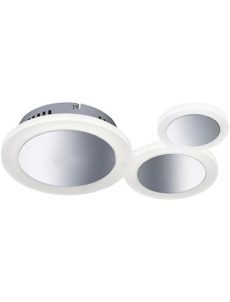wofi® Deckenleuchte chromfarben 22 W, 3-flammig, dimmbar, inkl. Leuchtmittel in warmweiß