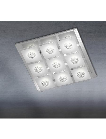 wofi® Deckenleuchte chromfarben 3 W, 9-flammig, inkl. Leuchtmittel in warmweiß