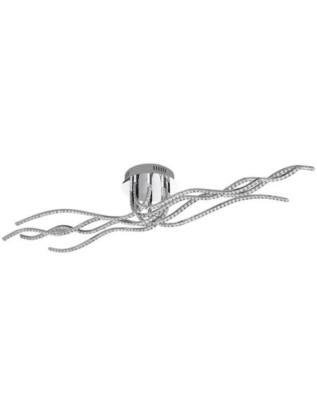 wofi® Deckenleuchte chromfarben 32 W, 8-flammig, dimmbar, inkl. Leuchtmittel in warmweiß