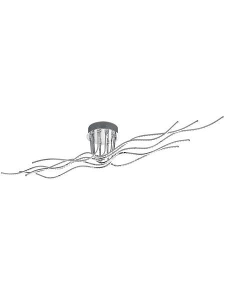 wofi® Deckenleuchte chromfarben 39 W, 1-flammig, inkl. Leuchtmittel in warmweiß