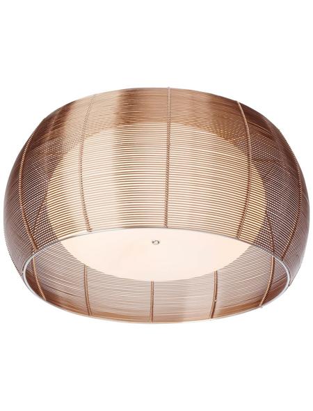 BRILLIANT Deckenleuchte chromfarben/bronzefarben 30 W, 2-flammig, E27, dimmbar, ohne Leuchtmittel