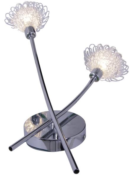 NÄVE Deckenleuchte »Flower« chromfarben/klar 56 W, 2-flammig, G9, inkl. Leuchtmittel in warmweiß