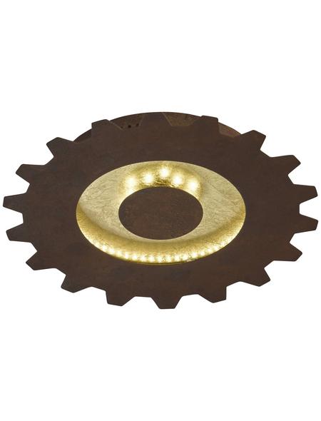 wofi® Deckenleuchte goldfarben 18 W, 2-flammig, inkl. Leuchtmittel in warmweiß