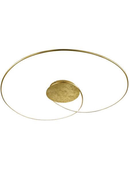 wofi® Deckenleuchte goldfarben 32 W, 1-flammig, dimmbar, inkl. Leuchtmittel in warmweiß