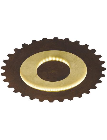 wofi® Deckenleuchte goldfarben 37 W, 2-flammig, inkl. Leuchtmittel in warmweiß
