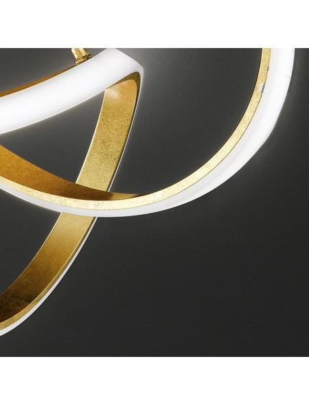 wofi® Deckenleuchte goldfarben 49 W, 1-flammig, dimmbar, inkl. Leuchtmittel in warmweiß